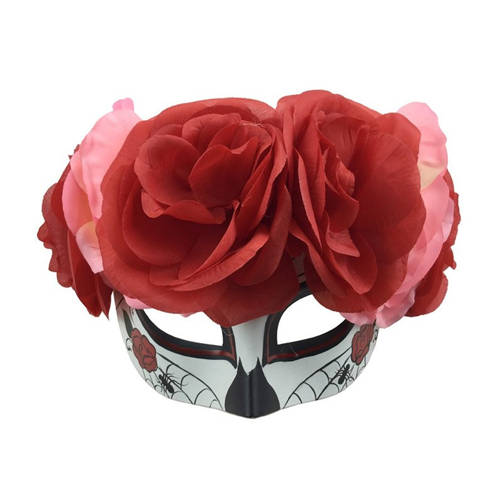 Picture of Catrina Masquerade Mask with Flowers