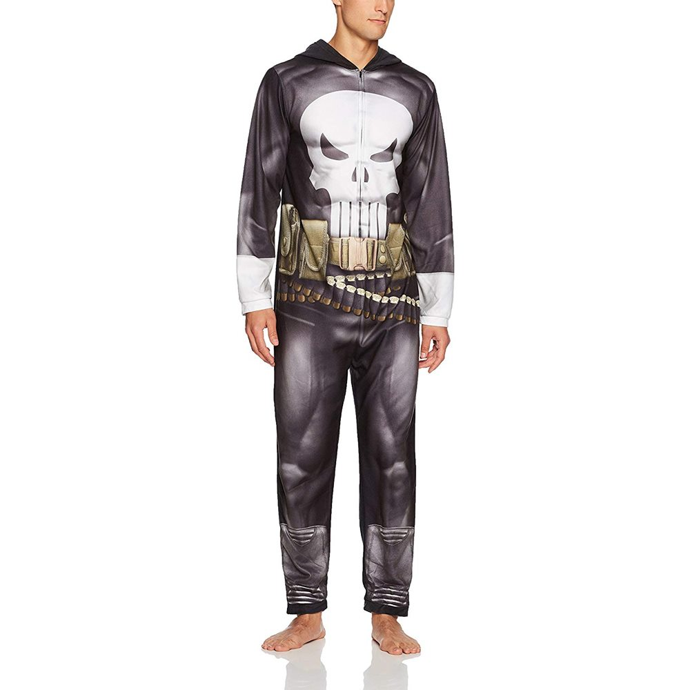 Picture of Marvel Punisher Adult Mens Onesie
