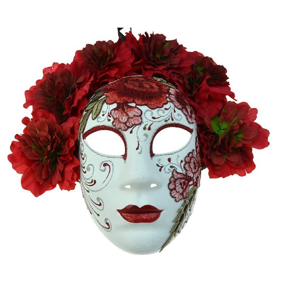 Picture of Red Day of the Dead Embroidered Mask