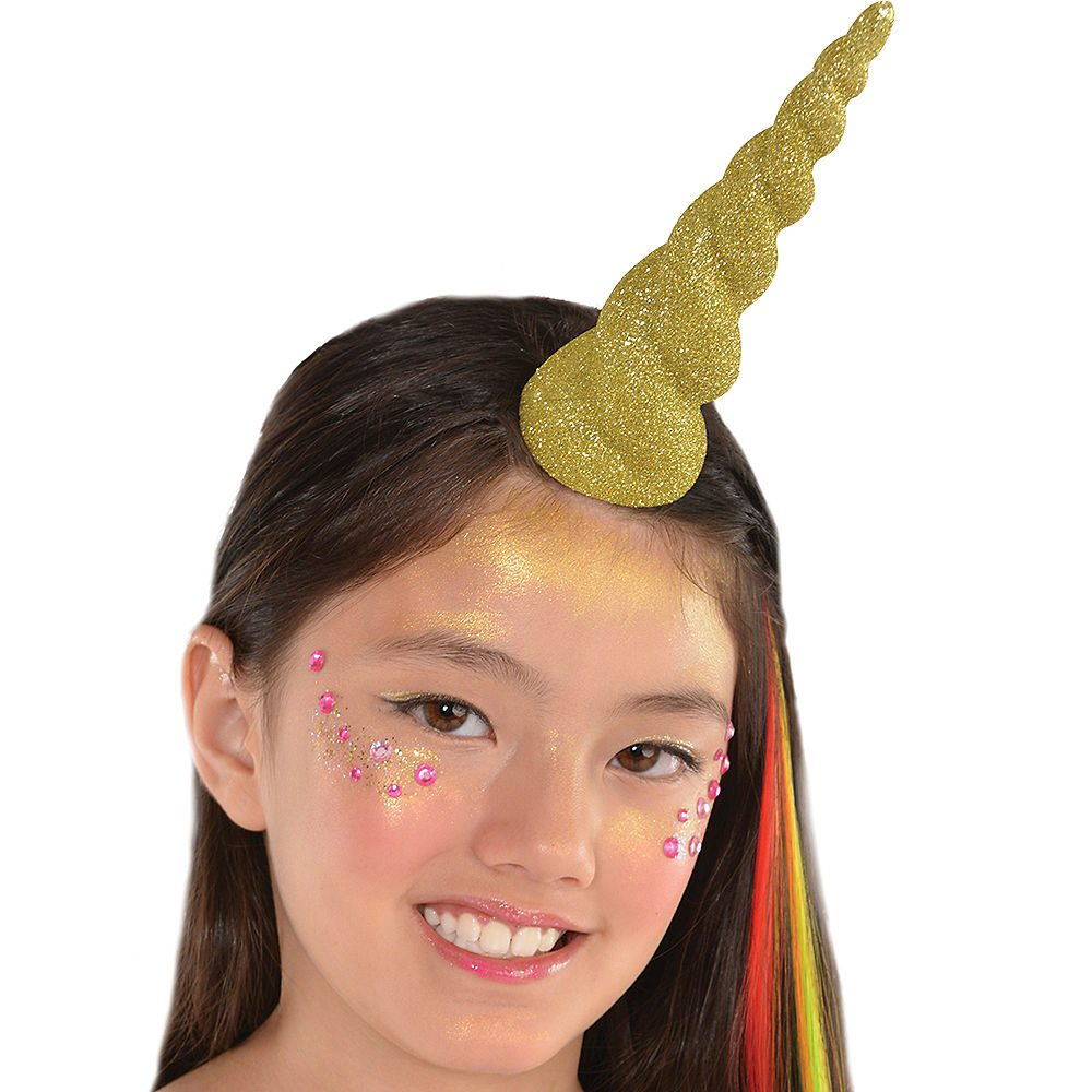 Picture of Gold Glitter Unicorn Horn Headband