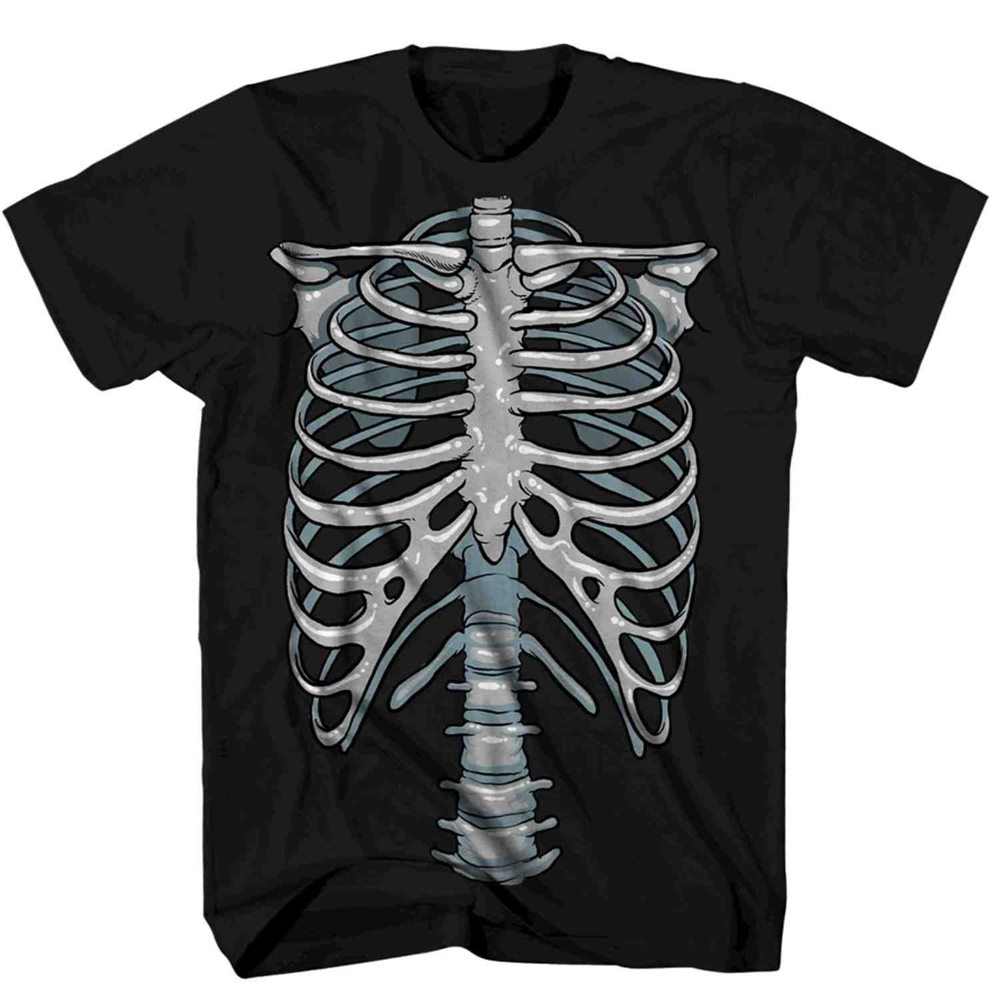 Picture of 3D Skeleton Chest Glow in The Dark Adult T-Shirt