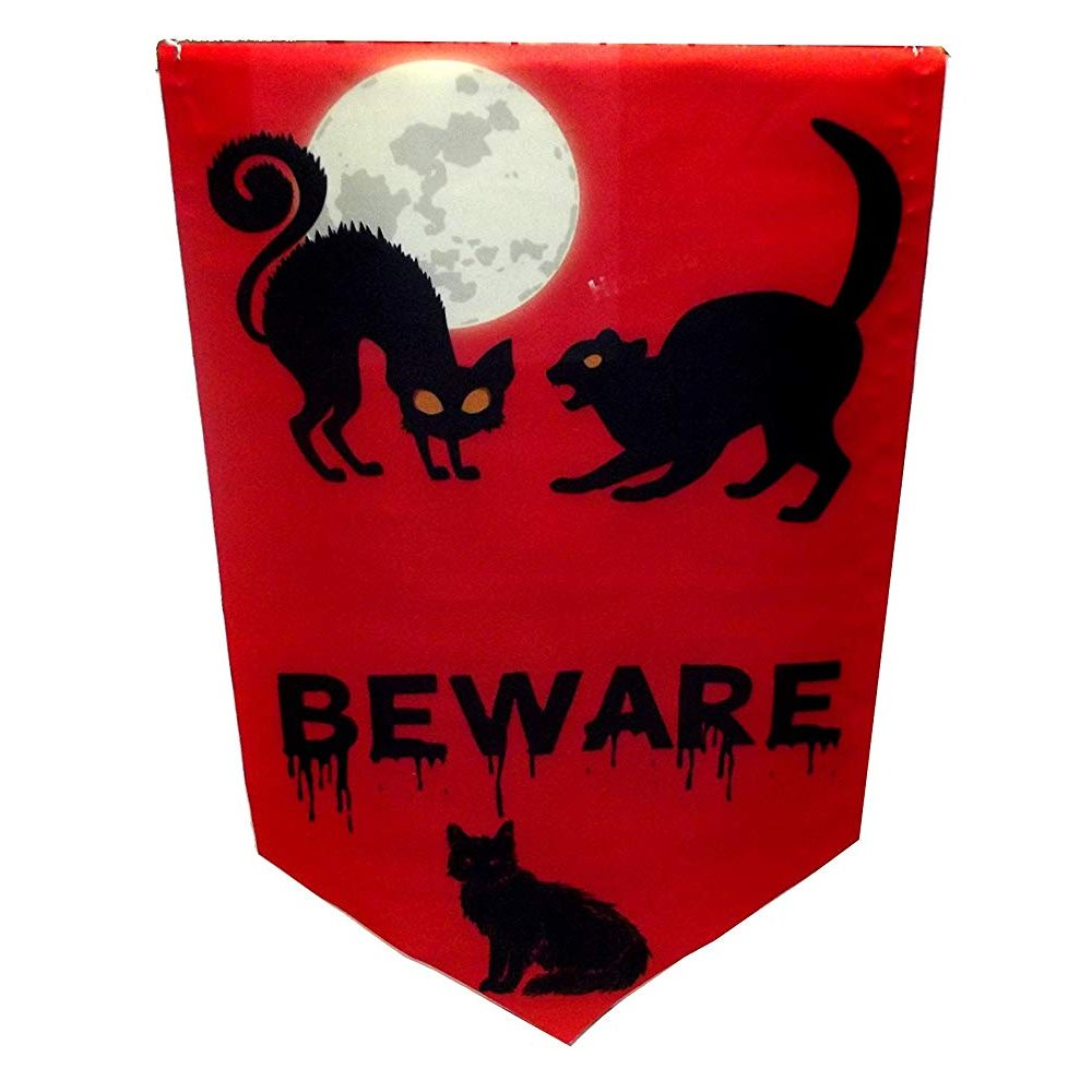 Picture of Halloween Beware Red Banner