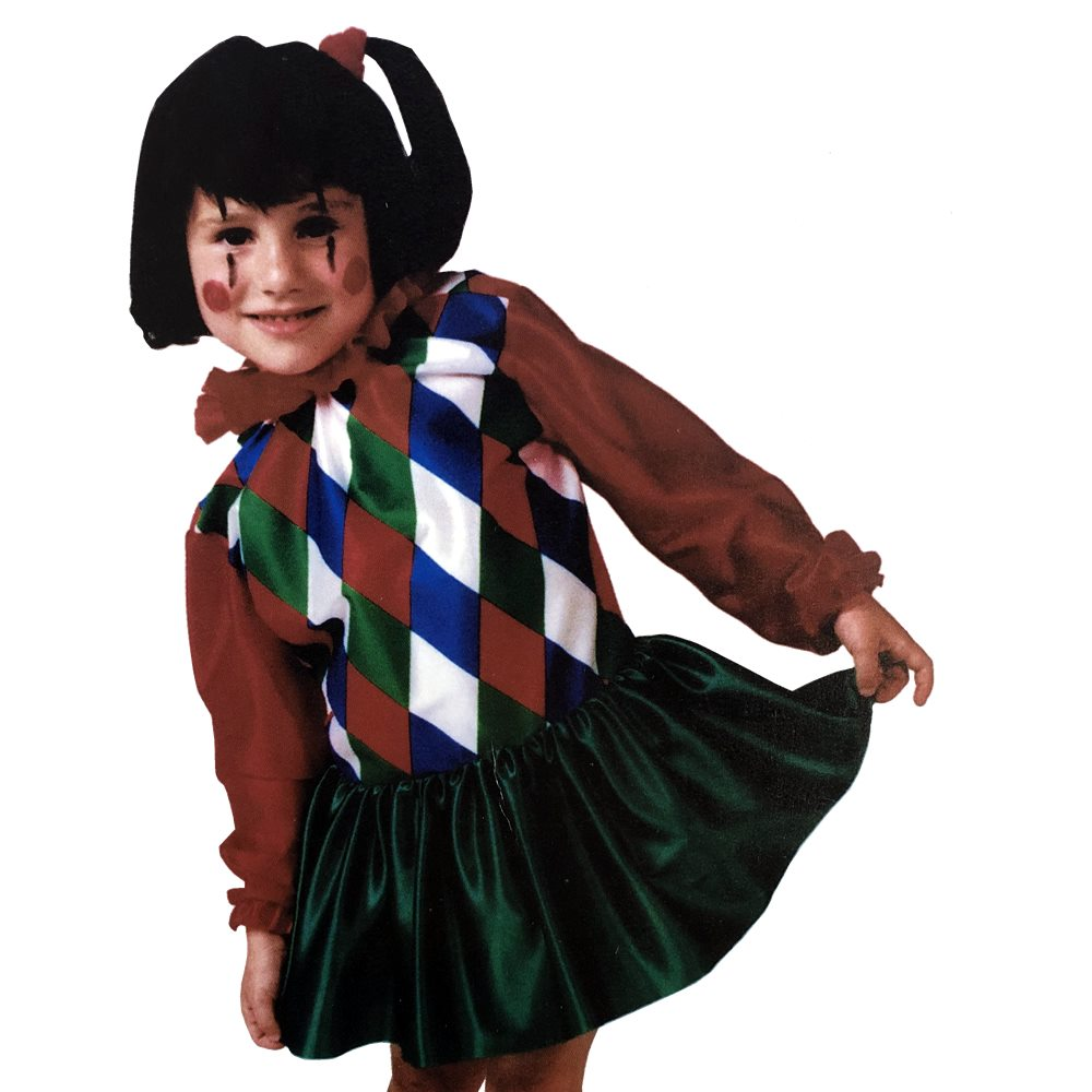 Picture of Clown Girl Dress Child Costume