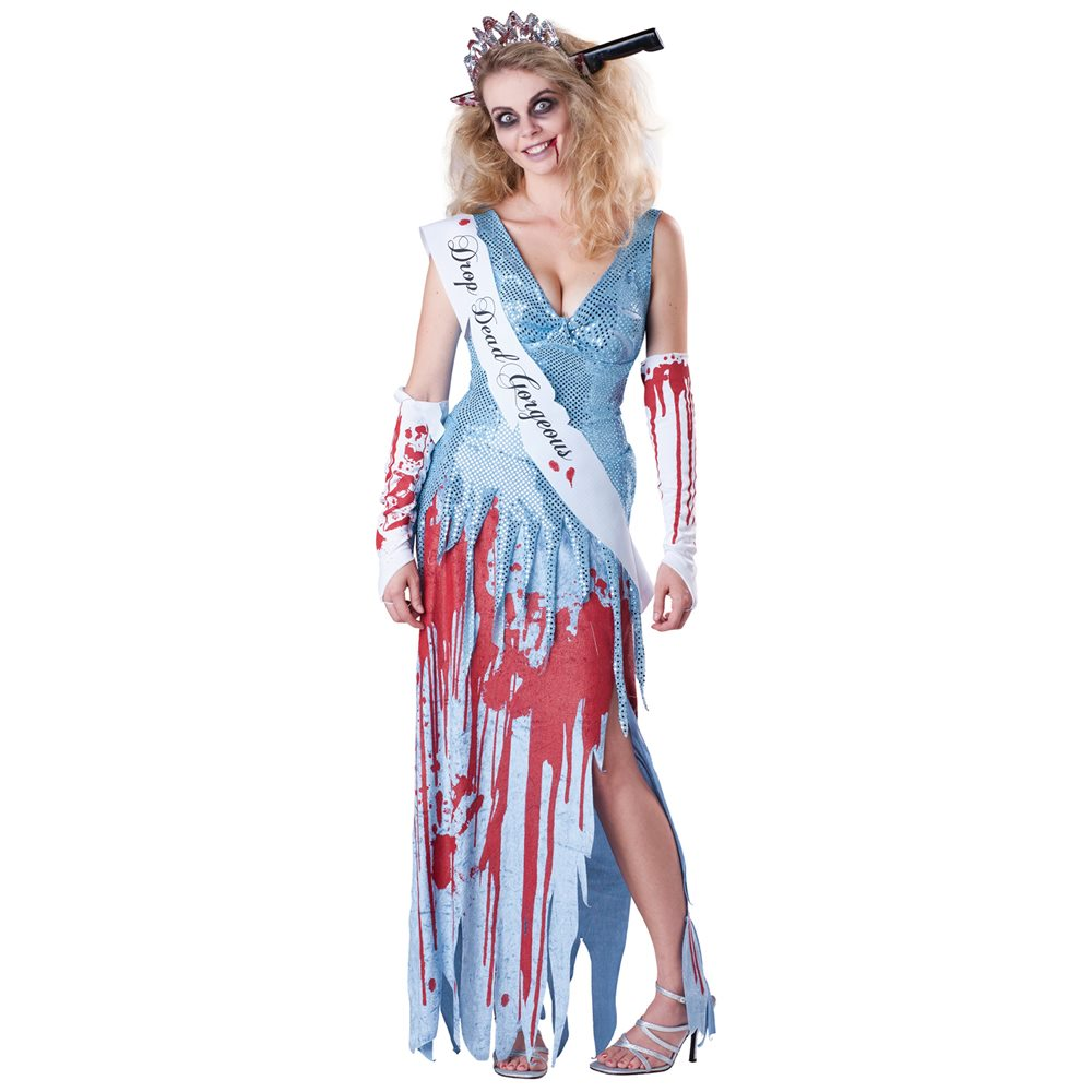 Picture of Drop Dead Prom Queen Adult Womens Costume