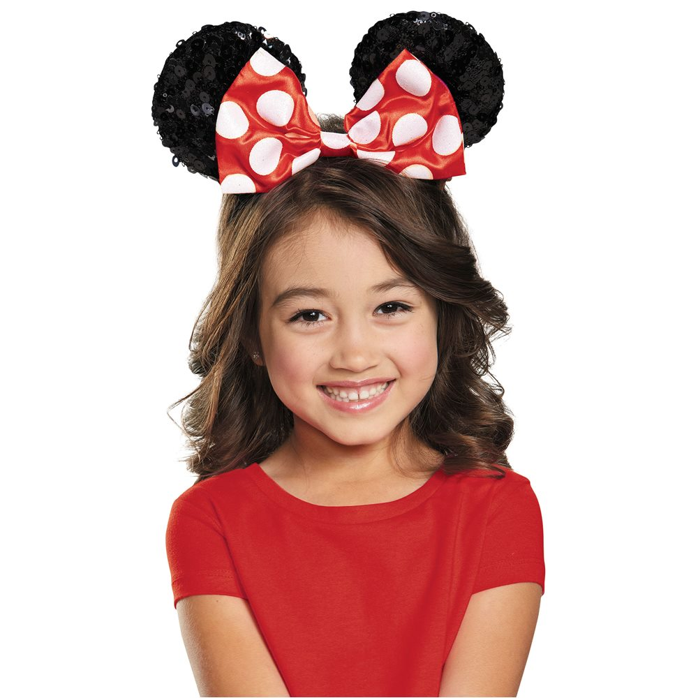 Picture of Red Minnie Mouse Child Sequin Ears