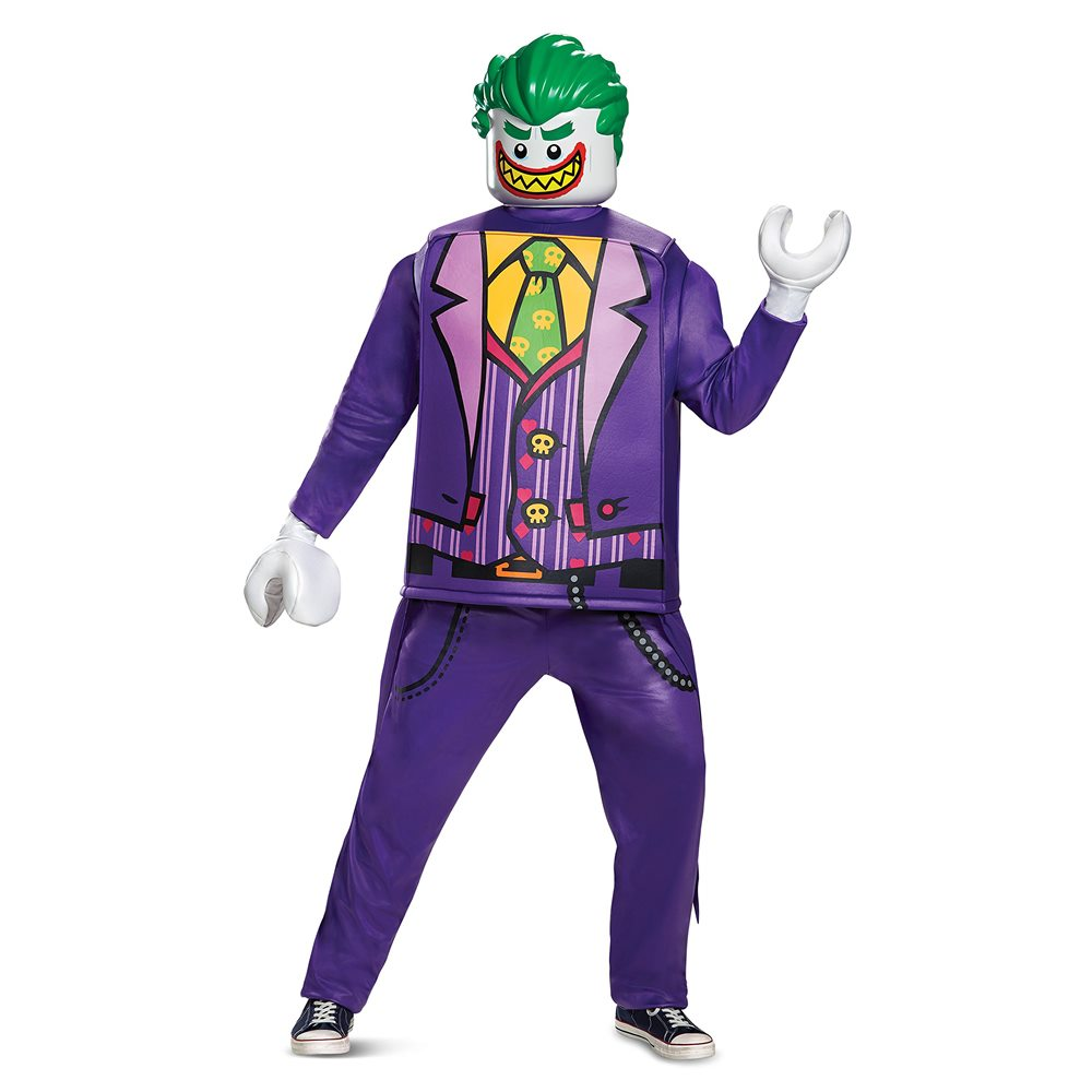 Picture of Lego Deluxe The Joker Adult Mens Costume