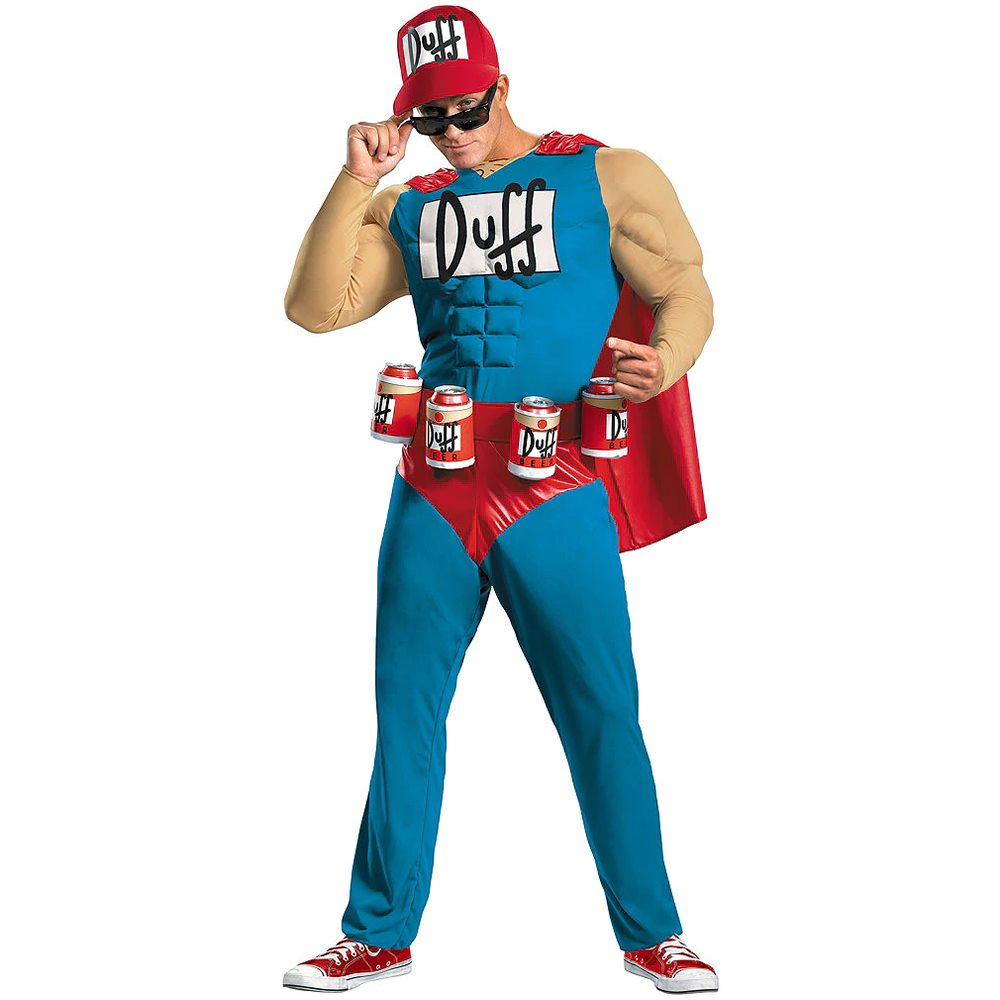 Picture of The Simpsons Duffman Muscle Adult Mens Plus Size Costume