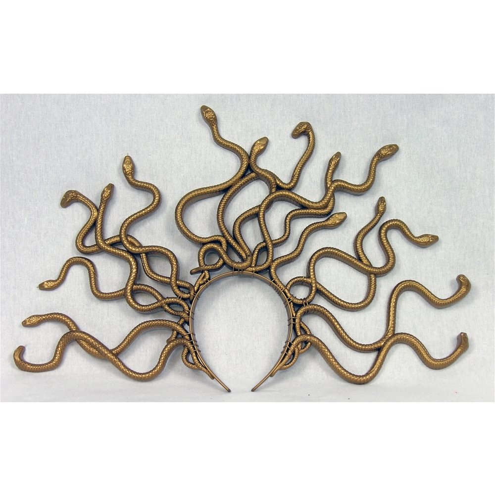 Picture of Medusa Gold Snake Headpiece