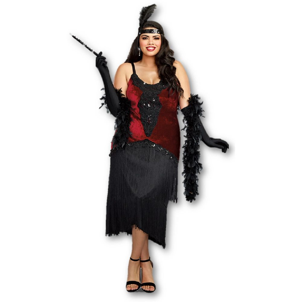 Picture of Million Dollar Baby Flapper Adult Womens Plus Size Costume