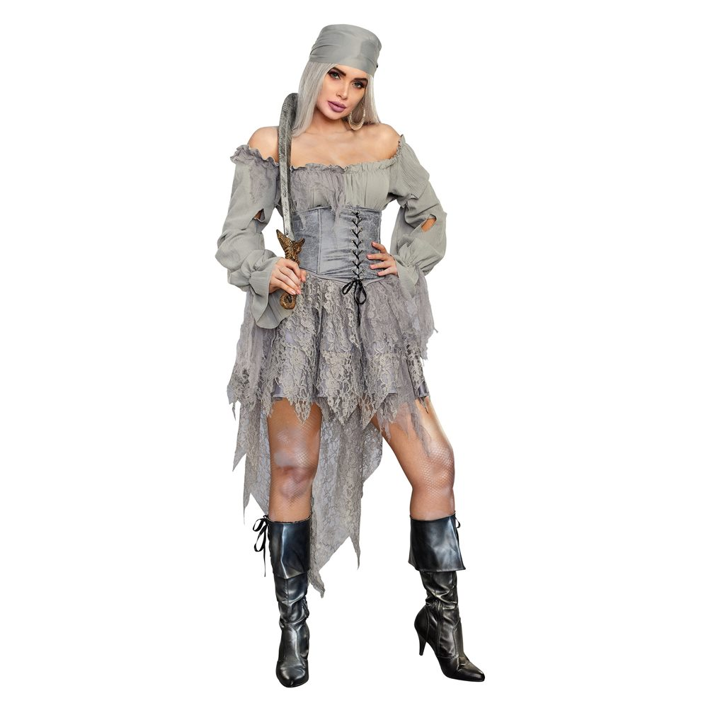 Picture of Lovely Ghost Pirate Adult Womens Costume