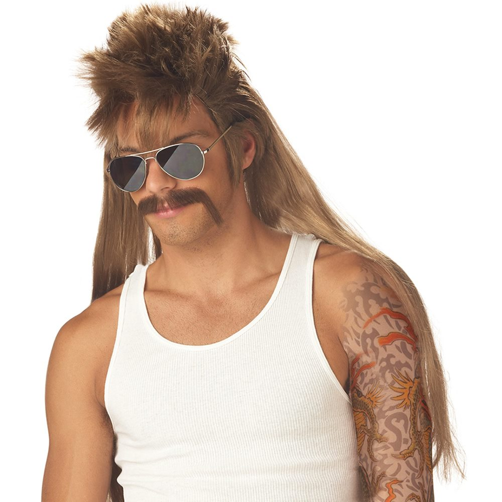 Picture of Mississippi Mud Flap Wig & Mustache