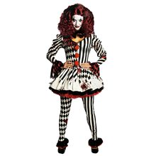 Picture of Creepy Miss Clowness Adult Womens Costume