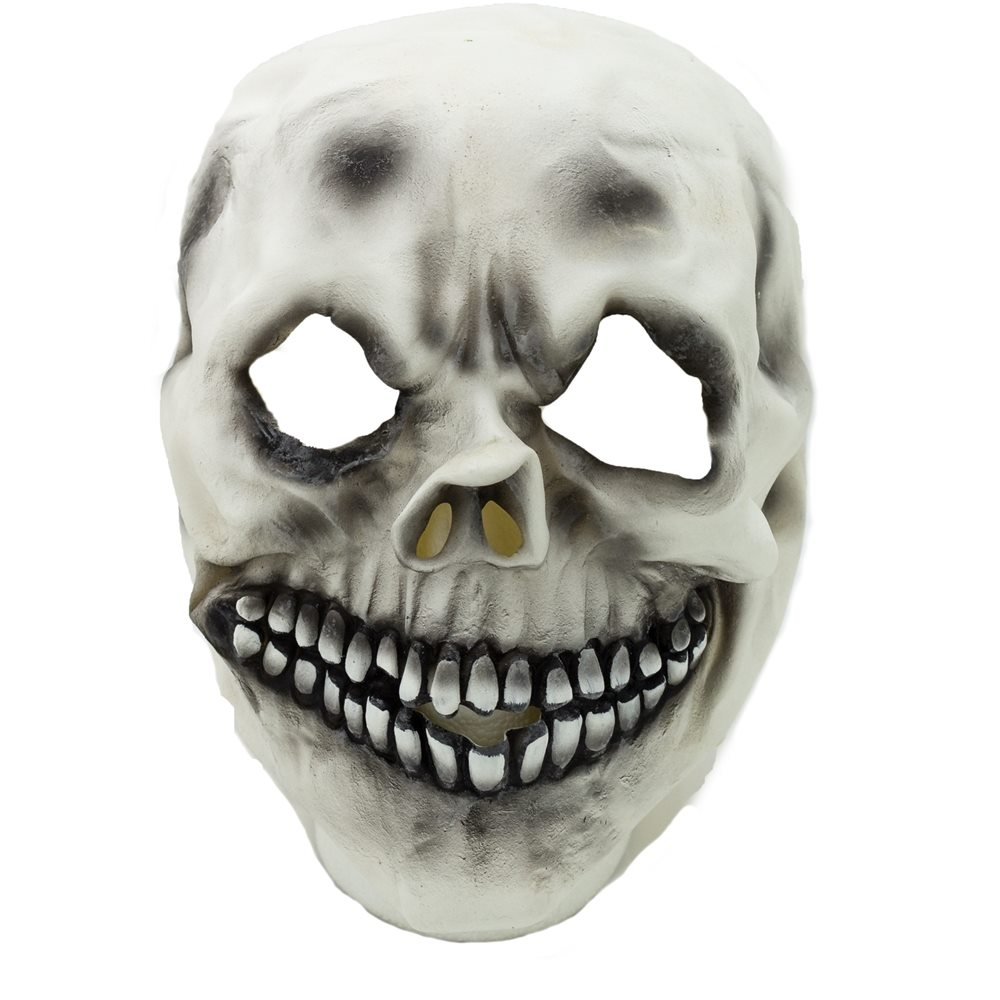 Picture of White Skull Latex Mask