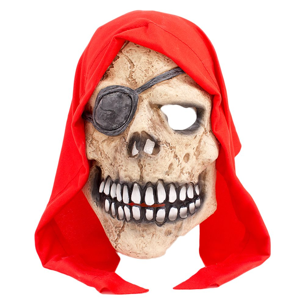 Picture of Grinning Pirate Skull Latex Mask
