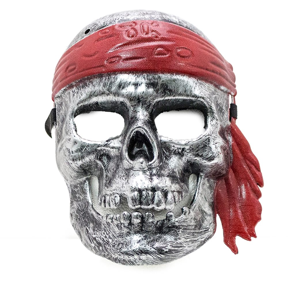 Picture of Silver Pirate Skull Mask
