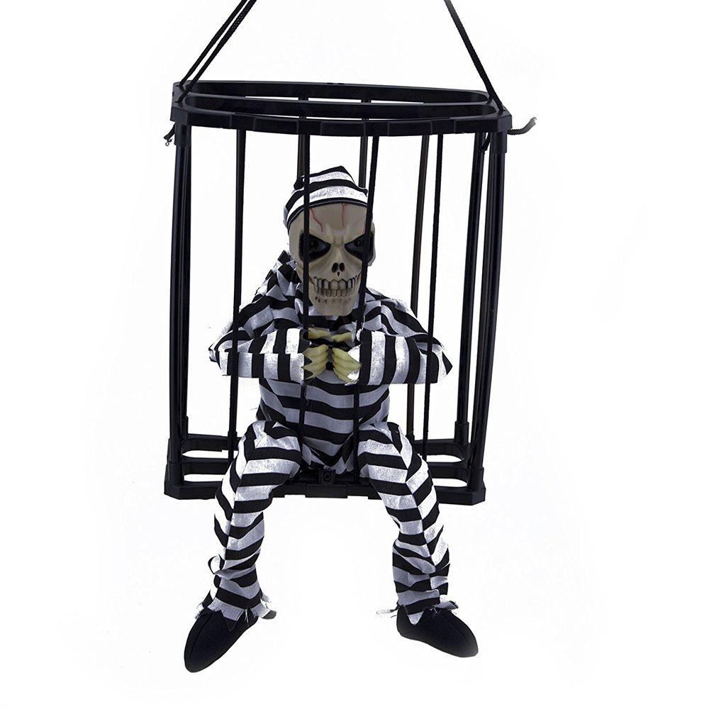 Picture of Caged Skeleton Prisoner Prop 11in