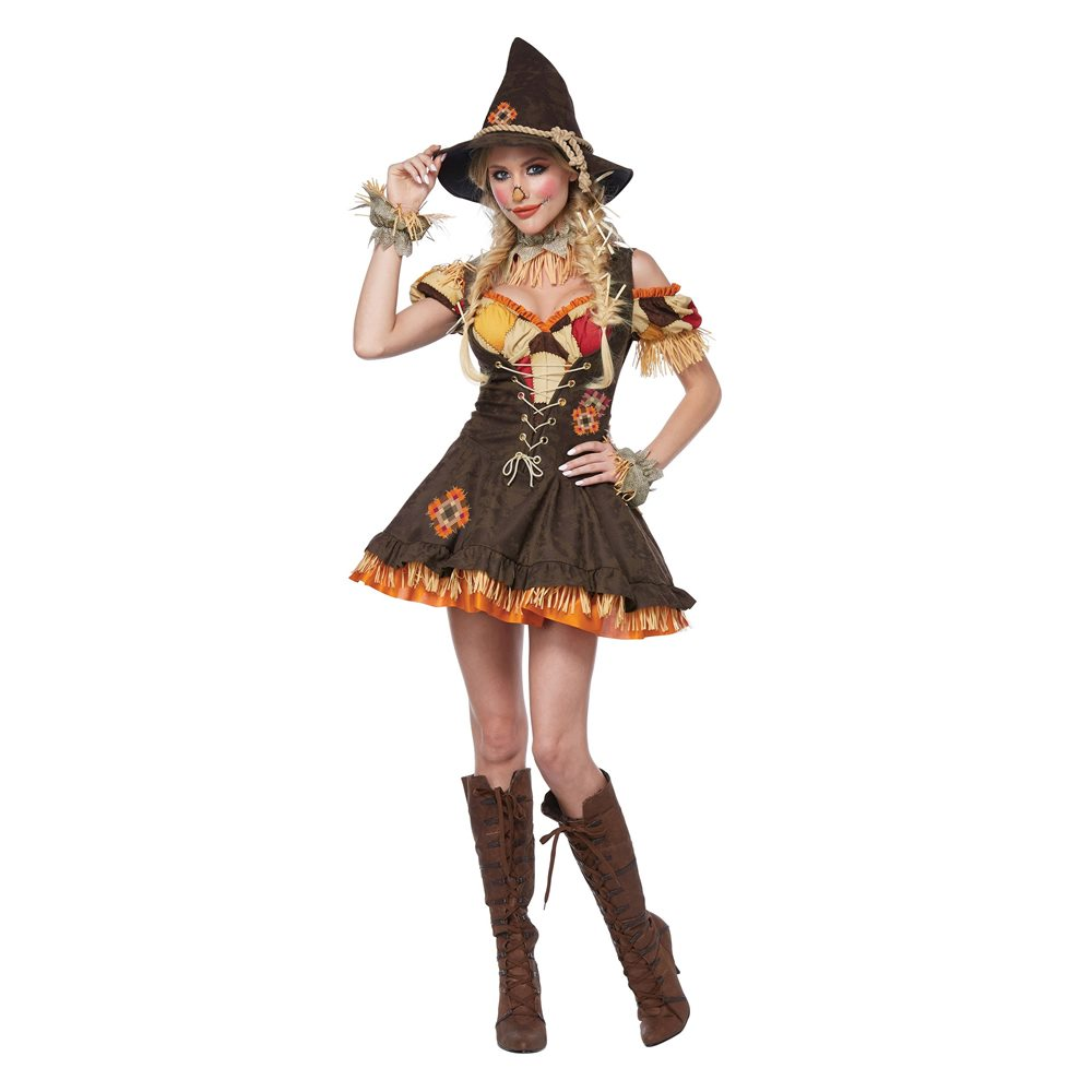Picture of Sassy Scarecrow Deluxe Adult Womens Costume