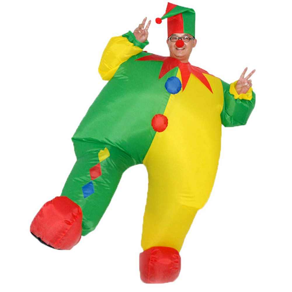 Picture of Inflatable Colorful Jester Clown Adult Unisex Costume