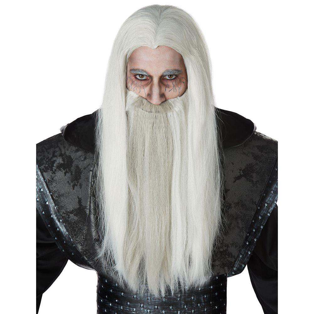 Picture of Dark Wizard Wig & Beard Set