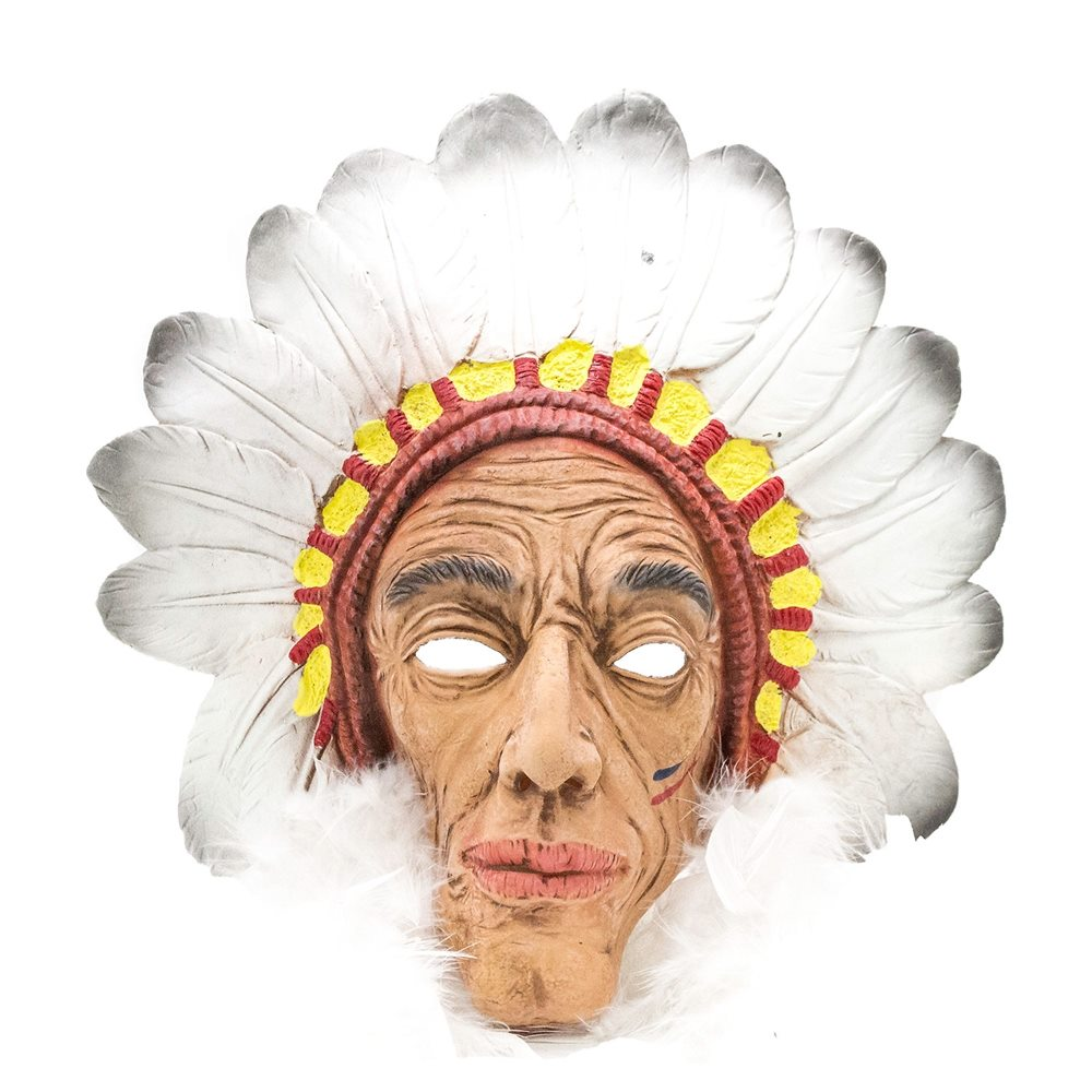 Picture of Native American Chief Latex Mask