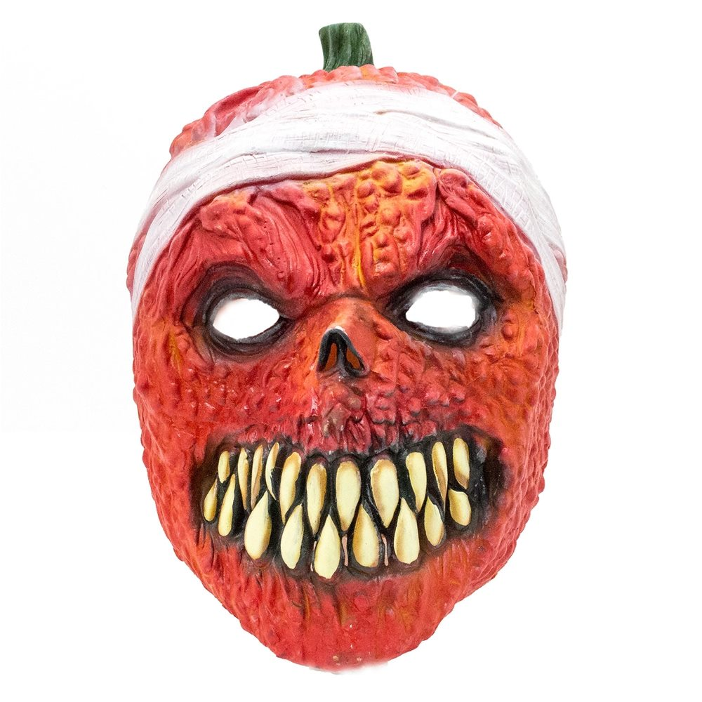 Picture of Sharp-Toothed Pumpkin Latex Mask
