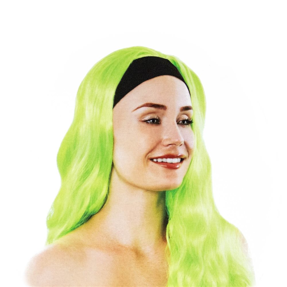 Picture of Neon Green Funky Long Wig