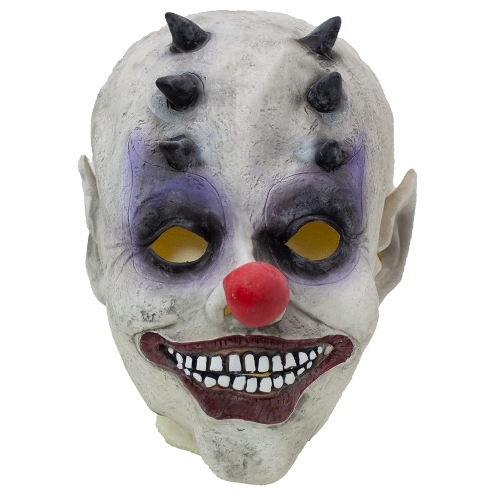 Picture of Horned Evil Clown Latex Mask
