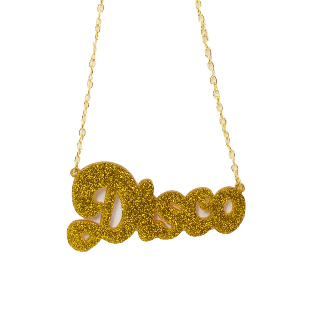 Picture of Gold Disco Necklace