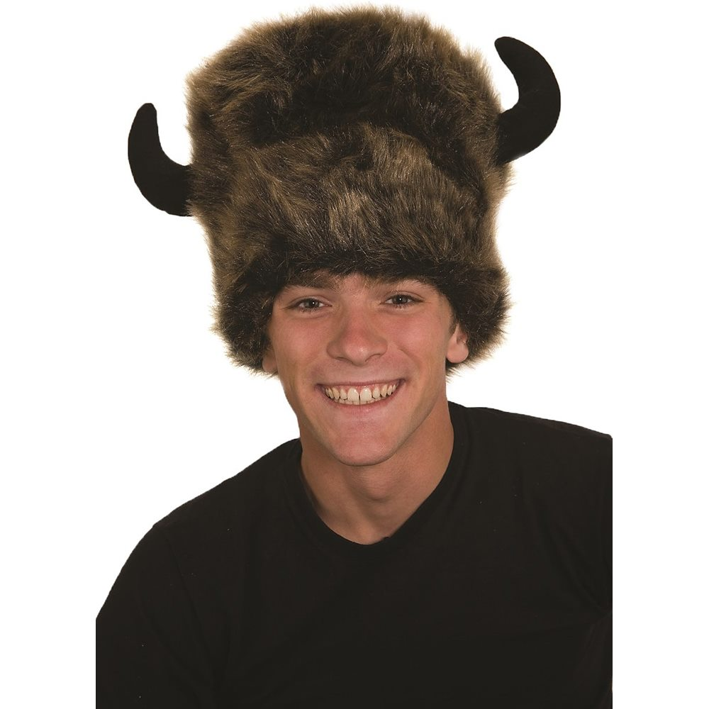 Picture of Buffalo Lodge Furry Horned Hat
