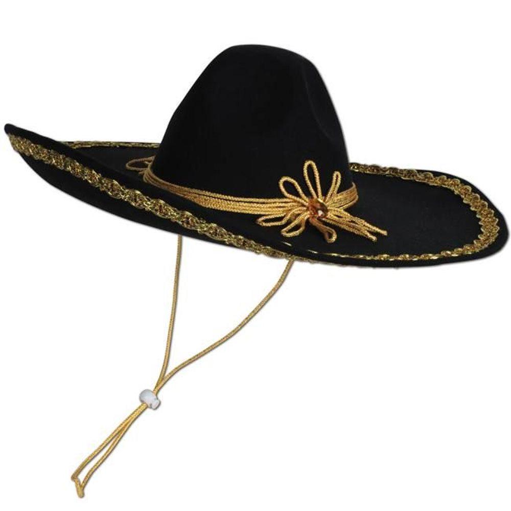 Picture of Black Mariachi Sombrero Hat