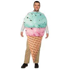 Picture of Ice Cream Cone Adult Unisex Costume