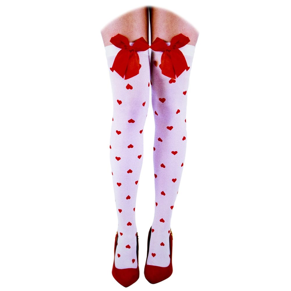 Picture of Red Hearts & Bows Thigh Highs