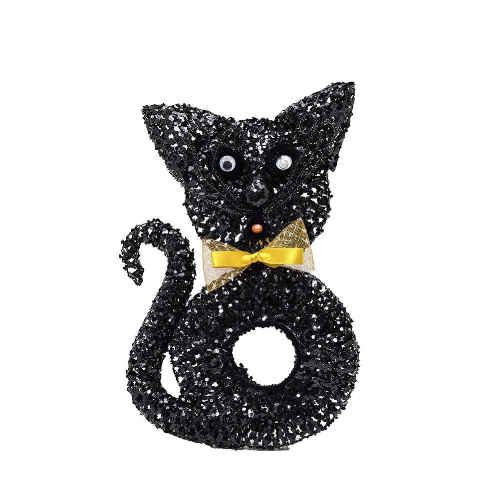 Picture of Glitter Black Cat Decoration