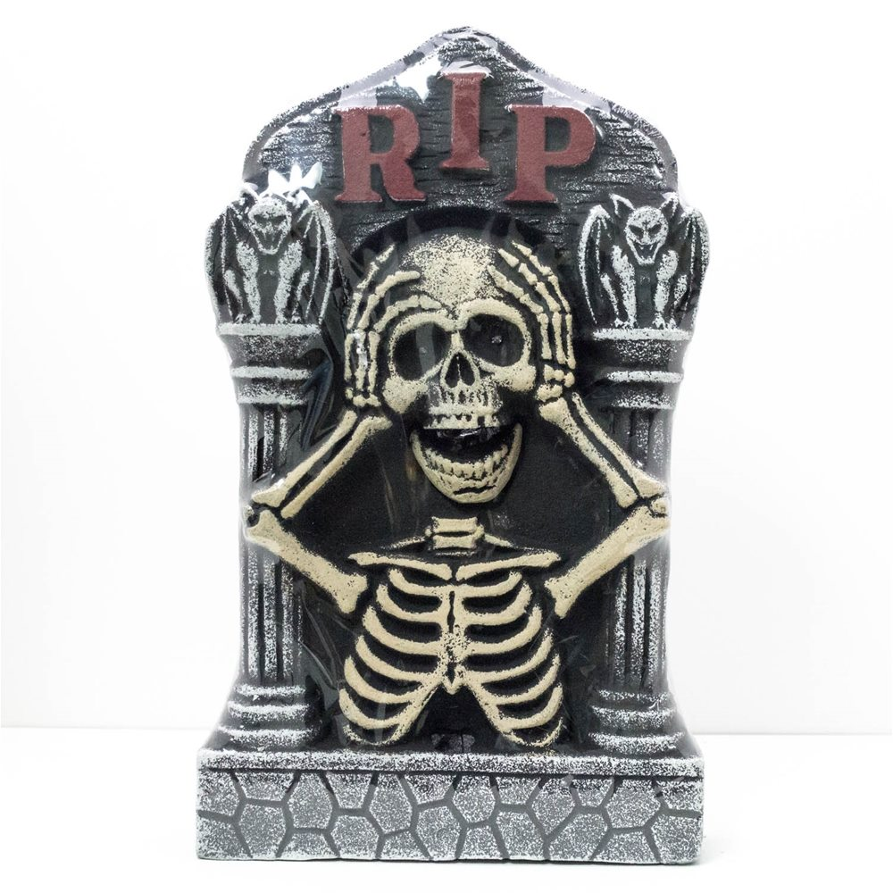 Picture of Light-Up Skeleton Eyes Tombstone