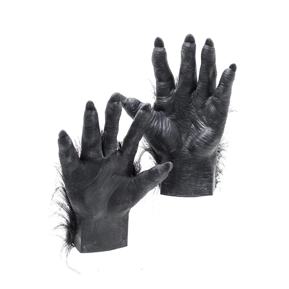 Picture of Hairy Black Latex Hands