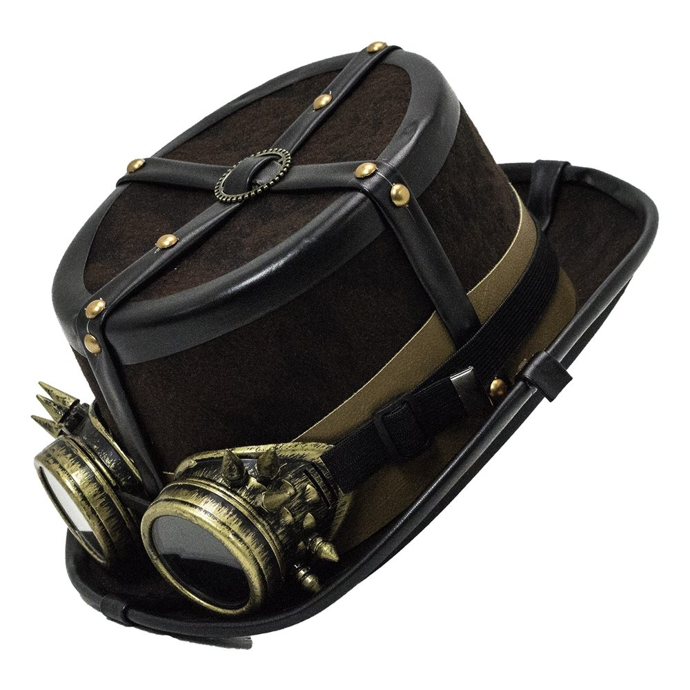Picture of Steampunk Super Deluxe Hat with Goggles