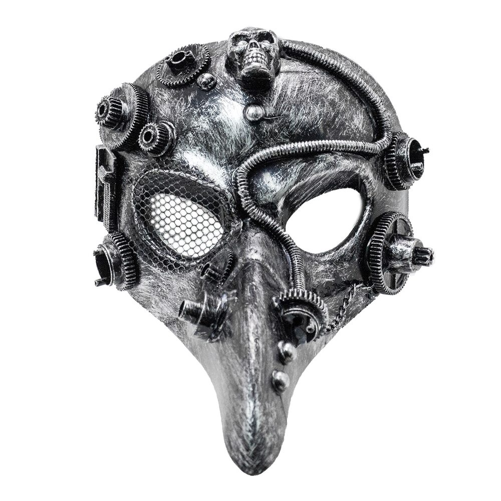 Picture of Silver Steampunk Long Nose Mask