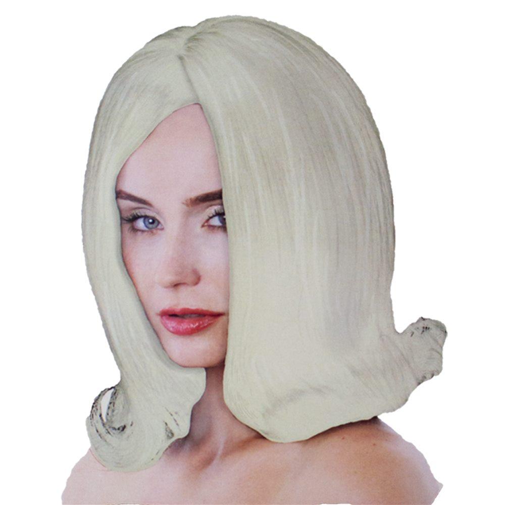 Picture of Platinum Blonde Flipped Bob Wig