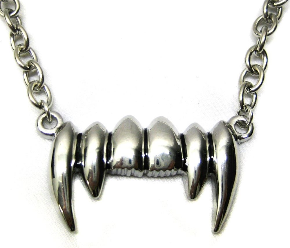 Picture of Silver Vampire Fangs Necklace