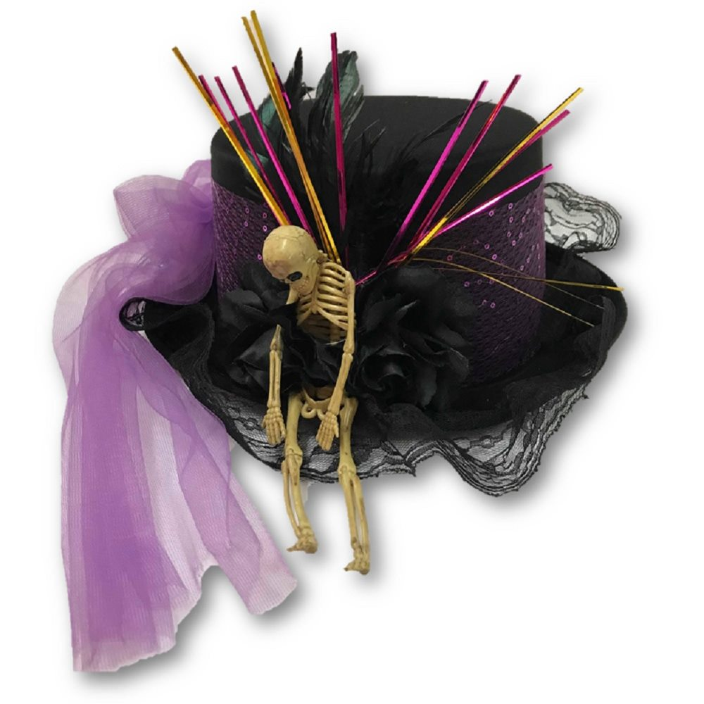 Picture of Satin Voodoo Skeleton Hat