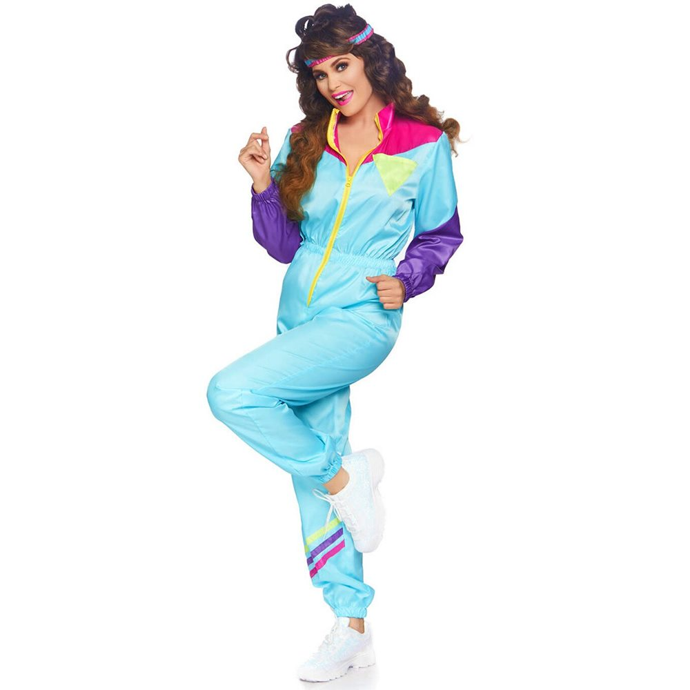 Picture of Awesome 80s Tracksuit Adult Womens Costume