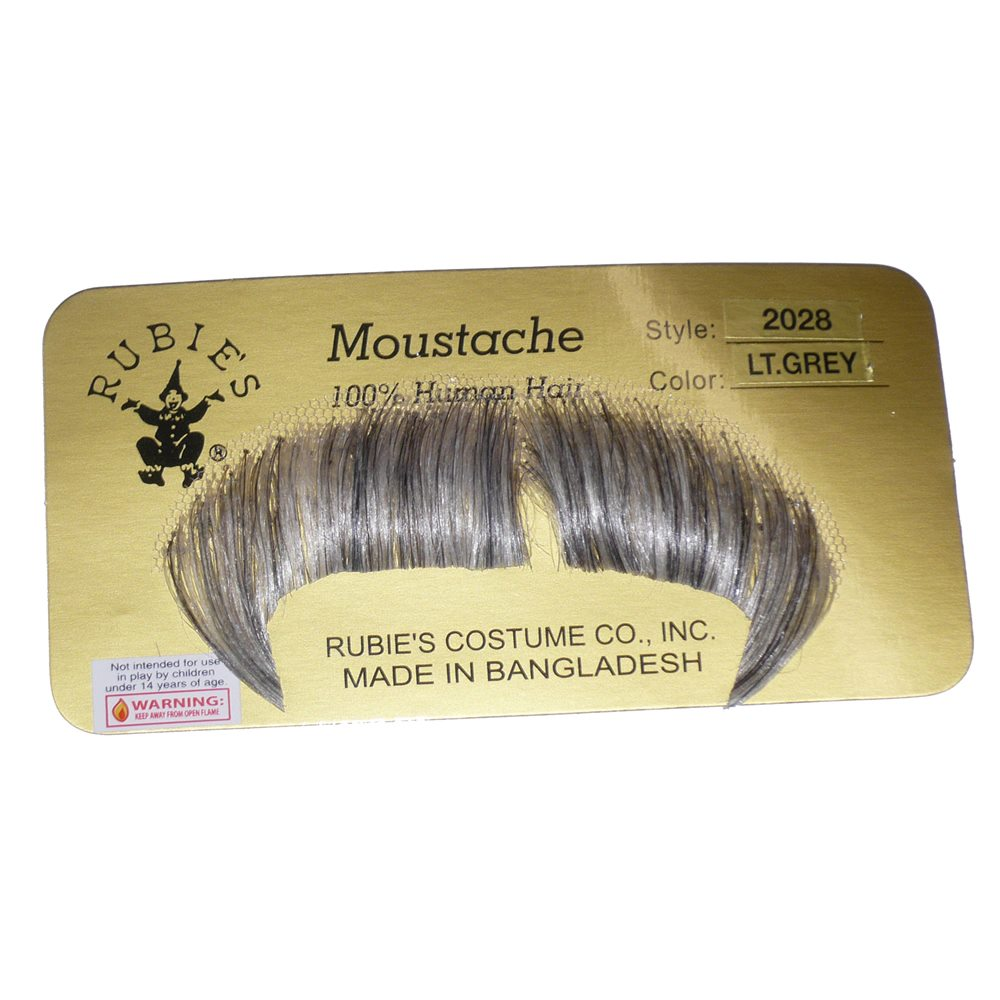 Picture of Light Grey Mustache