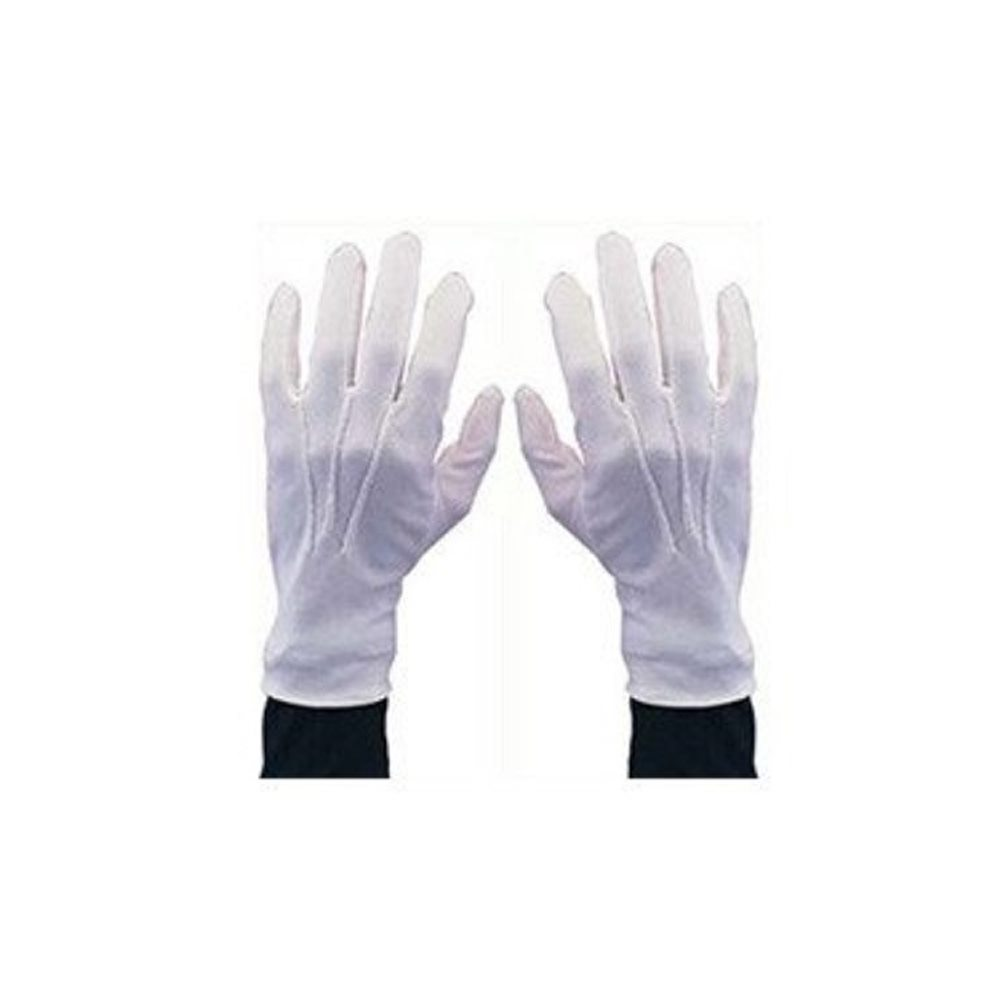 Picture of White Nylon Gloves with Snaps