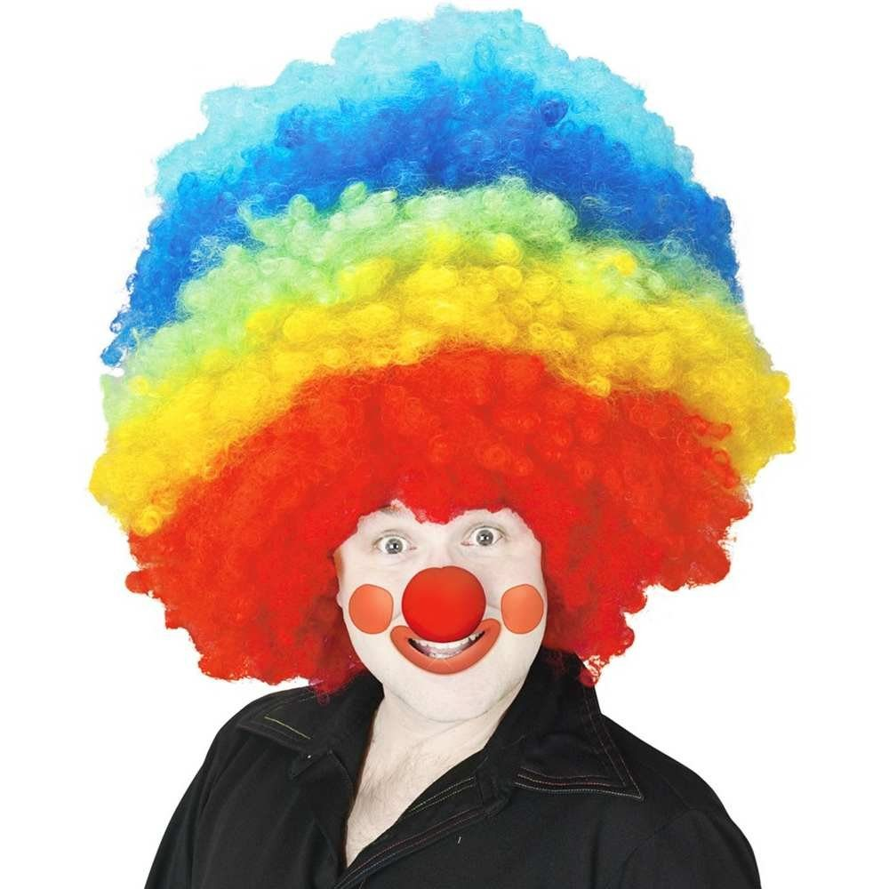 Picture of Mega Rainbow Curly Clown Wig