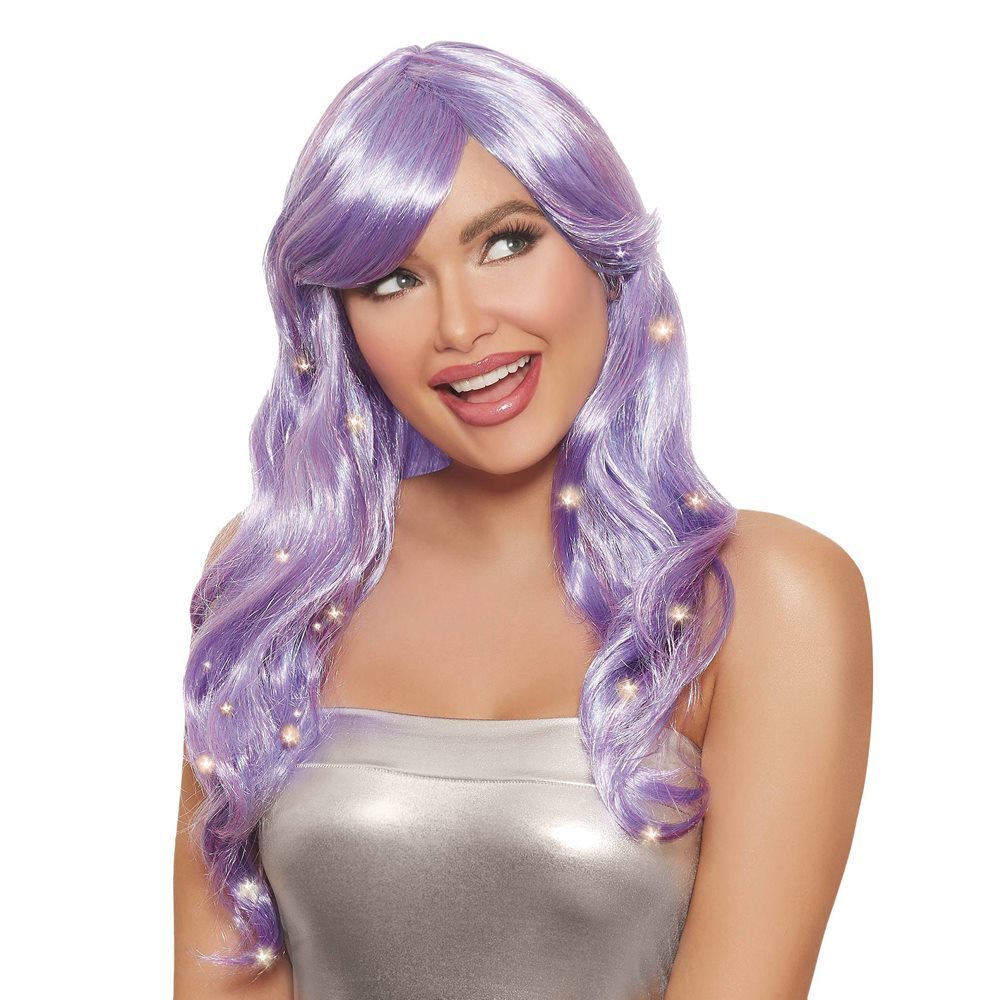 Picture of Long Wavy Light-Up Lavendar Wig